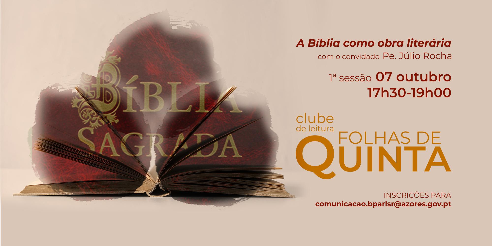"""Clube de Leitura """"Folhas de Quinta"""" analisa a Bíblia como obra literária"""